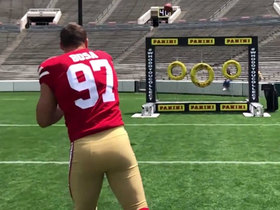 Watch: Rookie Premiere: Nick Bosa tosses perfect throw at Rose Bowl