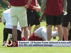 Watch: Jay Gruden explains what happened on the play where Reuben Foster tore ACL