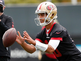 Watch: Jimmy Garoppolo throws for first time at 49ers' OTAs
