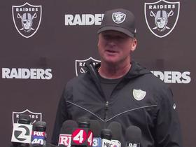 Watch: Jon Gruden reacts to A.B.'s absence at OTAs