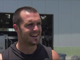 Watch: Derek Carr on Antonio Brown: 'That man is awesome, he's a great teammate'