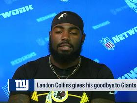 Watch: Landon Collins to Giants fans: 'You still get to see me twice a year'