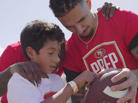 Watch: 49ers rookies host youth football clinic