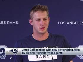 Watch: Jared Goff: I'm building rapport with new center through 'Fortnite'