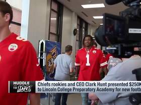 Watch: Chiefs present $250K check to local H.S. as part of Huddle for 100 initiative