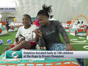 Watch: Dolphins donate beds to 100 children at Hope to Dream sleepover