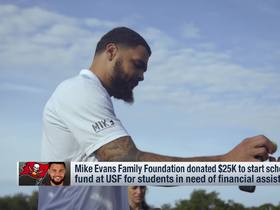 Watch: Mike Evans Family Foundation donates $25K to start scholarship for USF students needing financial assistance