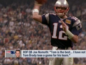 Watch: Joe Namath: 'I have not seen Tom Brady lose a game for his team'