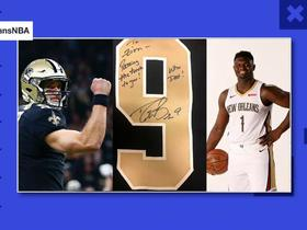 Watch: Zion Williamson receives gift from Drew Brees