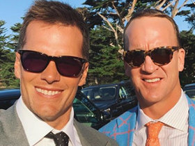 Watch: Tom Brady posts IG photo with Peyton Manning: 'We were friends this whole time'