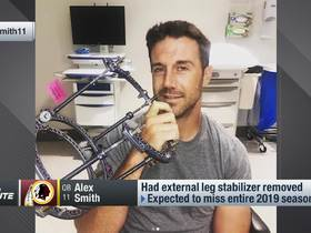 Watch: Alex Smith no longer wearing external leg stabilizer according to wife's IG post