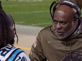 Watch: 'All or Nothing': Coaches, teammates give Donte Jackson a pep talk after Antonio Brown TD