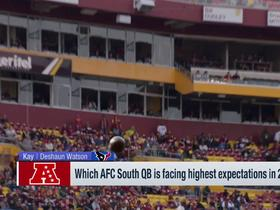 Watch: Which AFC South QB has the best supporting cast?