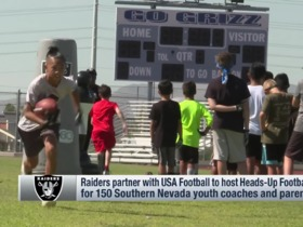 Watch: Raiders partner with USA Football to host heads-up football clinic