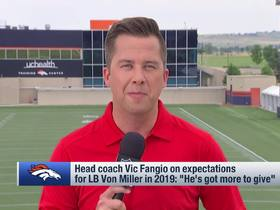 Watch: Palmer: Lindsay, Sanders will be 'eased back' into practice for Broncos