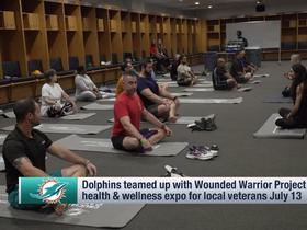 Watch: Dolphins team up with Wounded Warrior Project to host health and wellness expo for vets