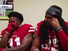 Watch: 49ers struggle with teammates' face-swap challenge