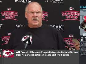 Watch: Andy Reid addresses Tyreek Hill decision