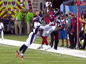 Watch: Falcons' fourth-down heave ends up out of bounds to end game