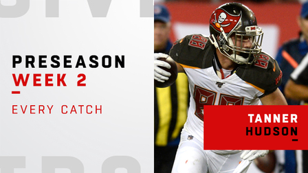 official photos 940b4 be33f Every catch from Tanner Hudson's big game | Preseason Week 2 ...