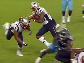 Watch: Pats' undrafted rookie RB sweeps into end zone