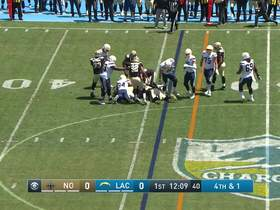 Watch: Saints stonewall Chargers for early fourth-down stop