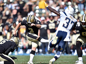 Watch: Wil Lutz gives Saints late lead with 28-yard FG
