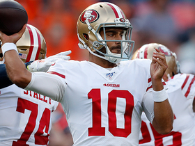 Watch: Jimmy G's second pass of preseason is INT