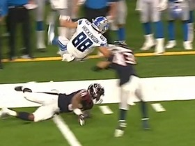 Watch: Hockenson's first preseason catch ends with EPIC hurdle