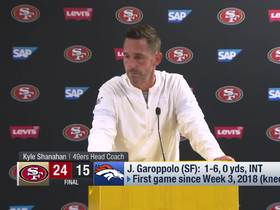 Watch: Kyle Shanahan reflects on Jimmy G's preseason debut
