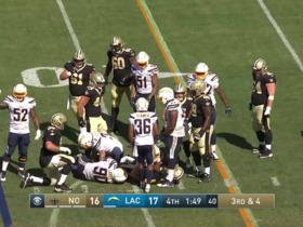 Watch: Anthony Lanier Tackles, Tackles For Loss from New Orleans Saints vs. Los Angeles Chargers