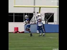 Watch: Hilton makes miraculous grab on DEEP pass at practice