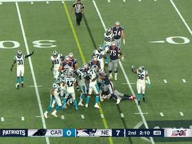 Watch: Panthers stop Patriots on fourth down