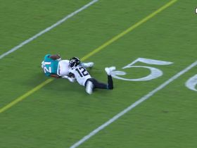 Watch: Eric Rowe jumps Foles pass for impressive INT