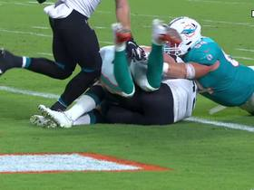 Watch: Patrick Laird submarines into end zone to extend Fins' lead