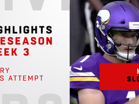 Watch: Every Kyle Sloter pass attempt | Preseason Week 3