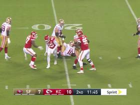 Watch: Frank Clark clamps down on Jimmy G for first sack with Chiefs