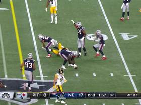 Watch: Patrick Chung breaks up Steelers' fourth-down attempt