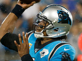 Watch: Cam proves he's still got the deep ball on 44-yard bomb to Samuel