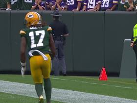 Watch: Aaron Rodgers launches 39-yard pass to Davante Adams on the first play from scrimmage