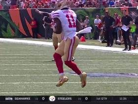 Watch: Jimmy Garoppolo finds wide open Marquise Goodwin for 38-yard TD