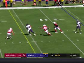 Watch: Lamar Jackson threads the needle to Nick Boyle on throw from own end zone
