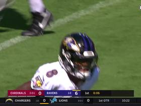 Watch: Lamar pump fake opens up Andrews for the touchdown