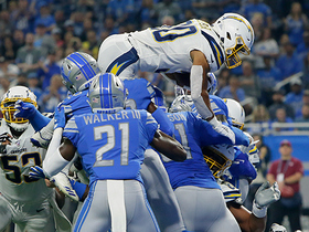 Watch: Austin Ekeler LEAPS over goal line for TD