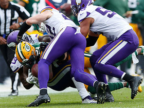 Watch: Xavier Rhodes creates huge forced fumble to halt Packers drive