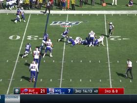 Watch: Giants' Pierre brings down Allen for sack