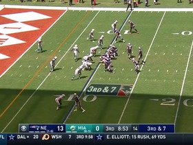 Watch: Brady upset with himself after Eric Rowe breaks up potential TD to AB