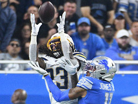 Watch: Rayshawn Jenkins in perfect spot to grab INT off Stafford