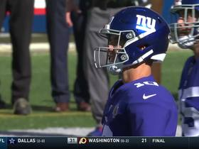 Watch: Eli Manning is picked off by Bills' Jordan Poyer to seal game