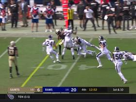 Watch: Tre'Quan Smith shakes off Aaron Donald's tackle for 28-yard catch and run